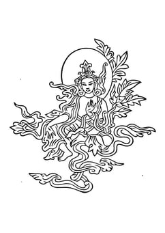 Coloring page Buddist image