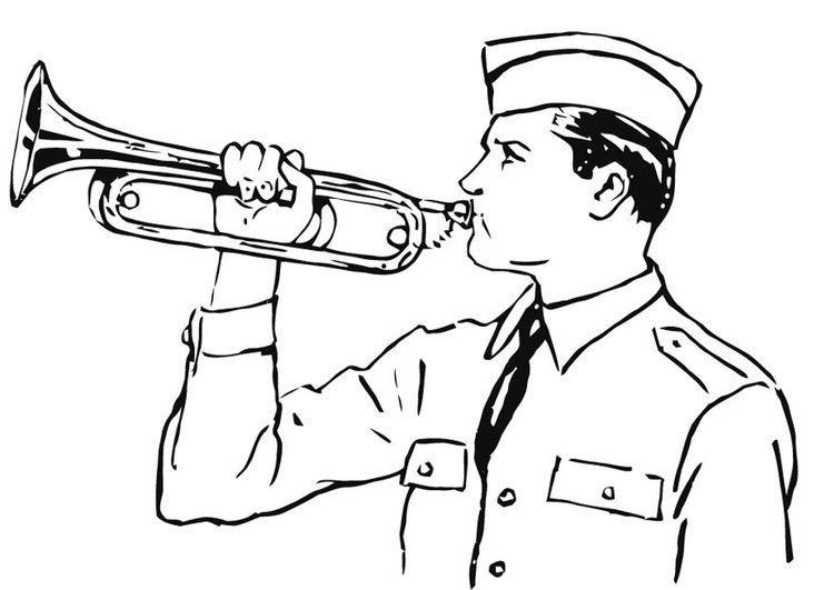 Coloring page bugle
