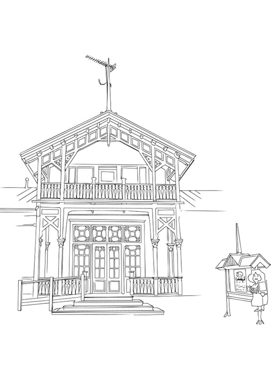 Coloring page building