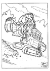 Coloring pages bull dozer