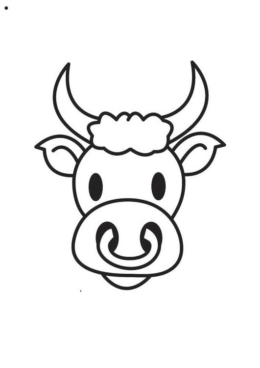 Coloring page Bull's Head