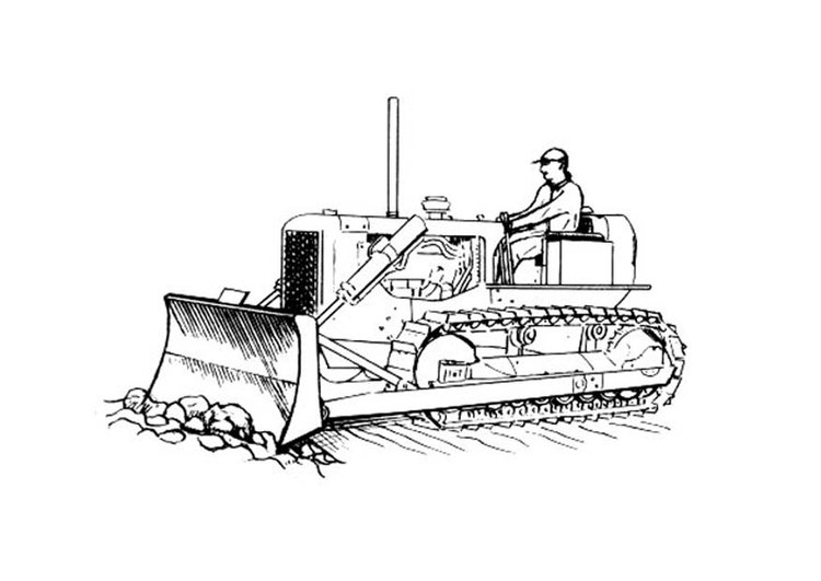 Coloring page bulldozer