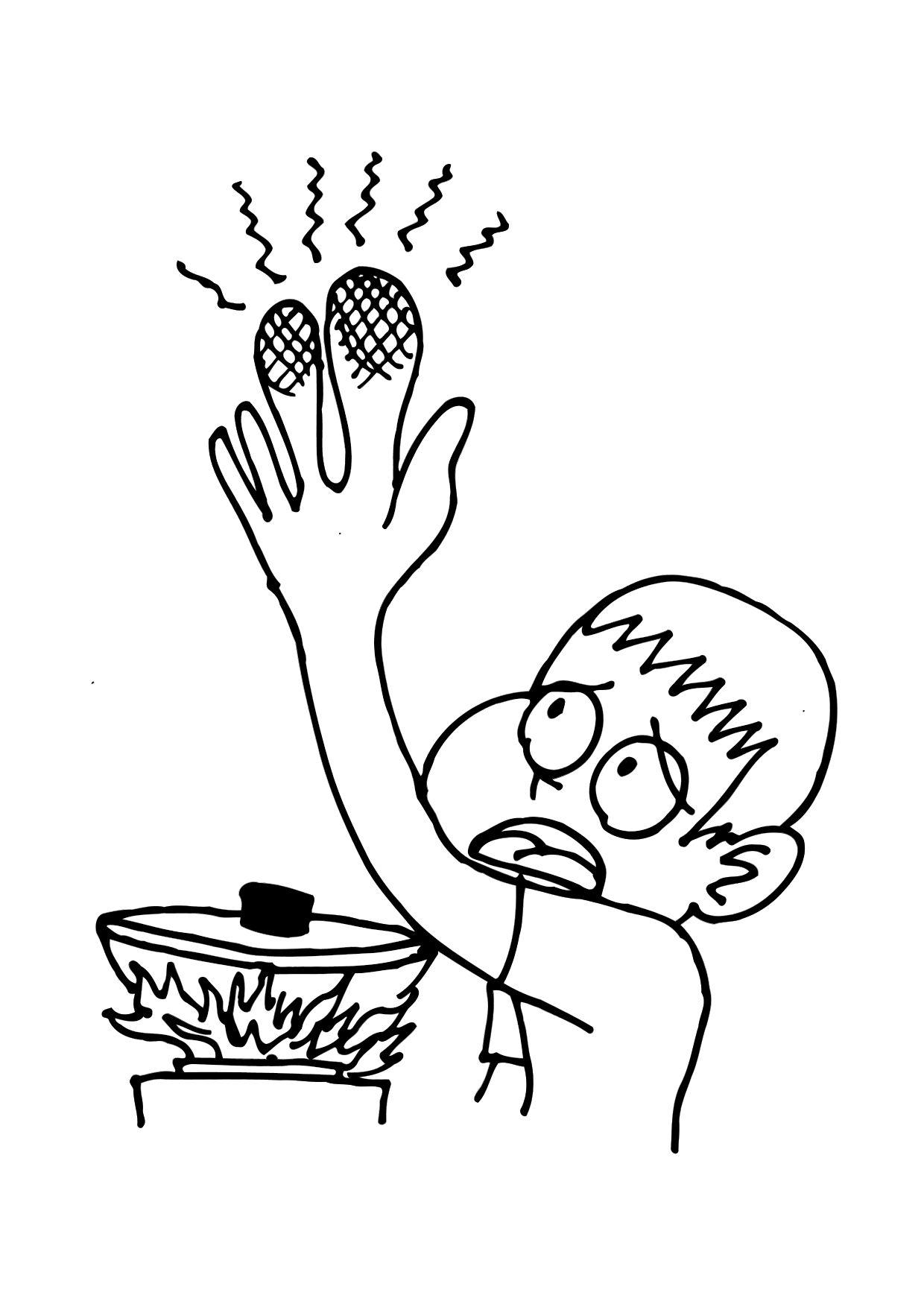 Coloring Page Burn