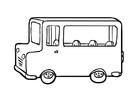 Coloring pages Bus