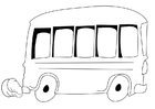 Coloring page bus
