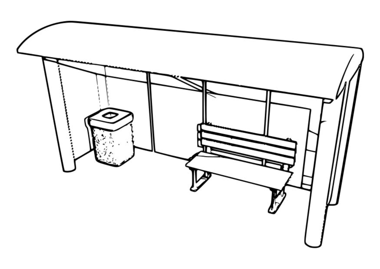 Coloring page bus stop