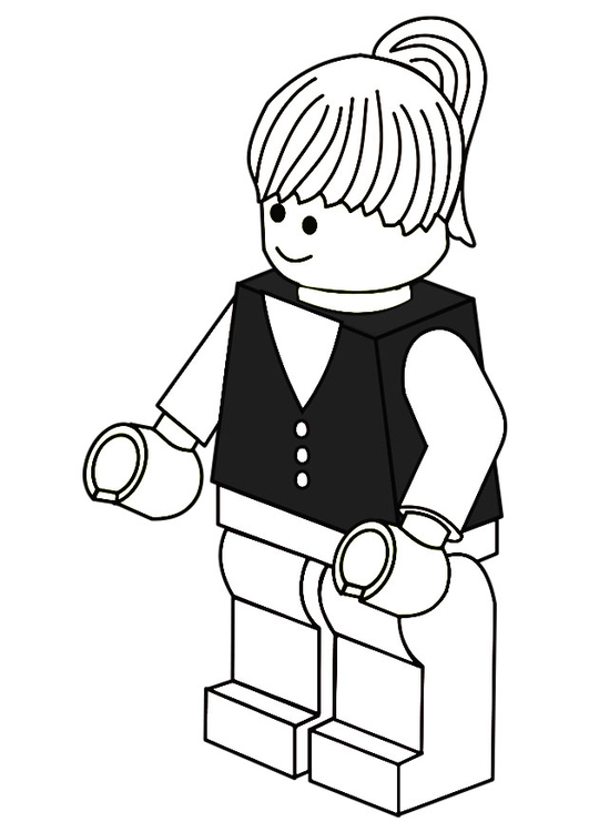 Coloring page business woman