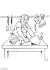 Coloring pages Butcher