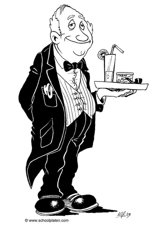 Coloring page butler