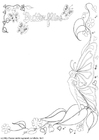 Coloring page butterfly decoration