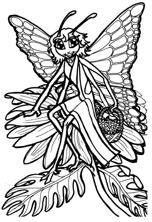 Coloring page butterfly queen