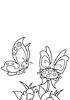 Coloring page butterfly with friend