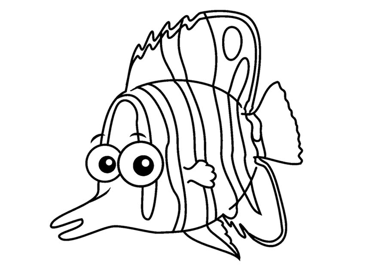 Coloring page butterflyfish