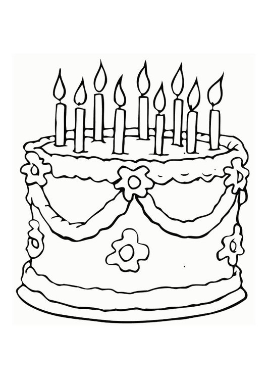 Coloring page cake