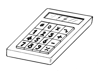 Coloring page calculator