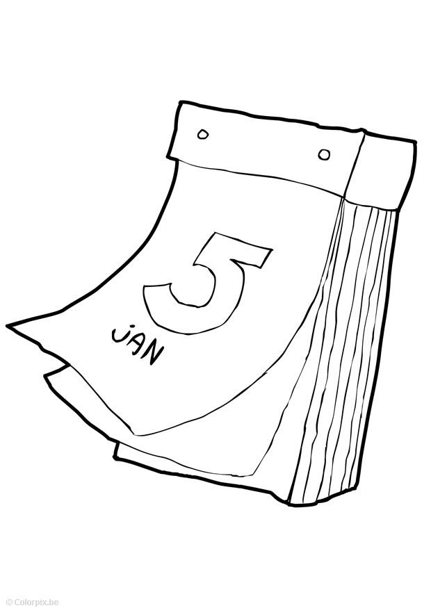 Coloring page calendar - img 14747.