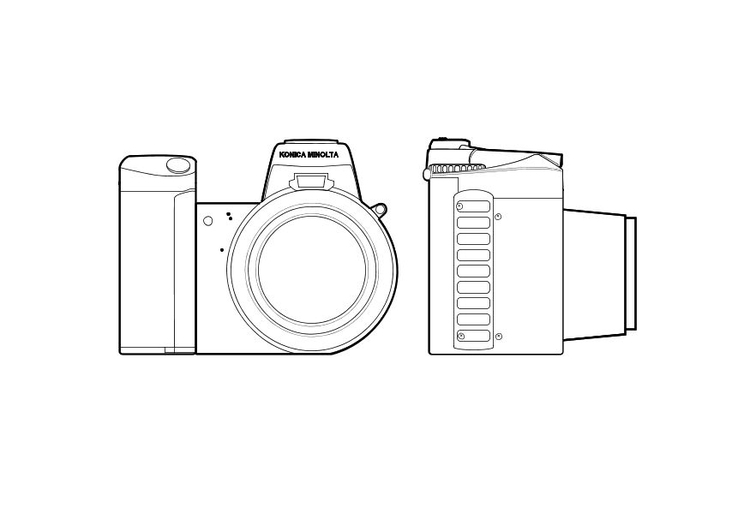 Coloring page camera