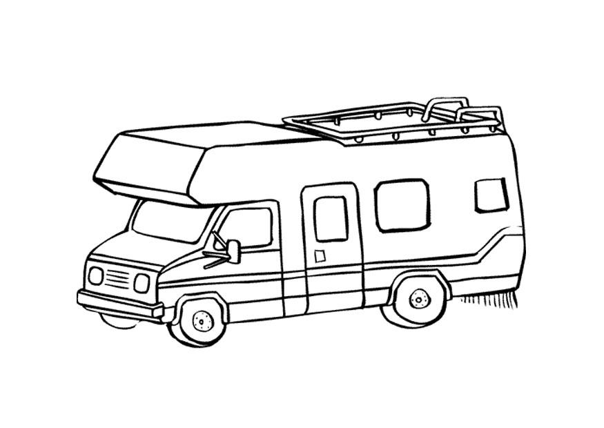 Coloring Page Camper Img 9660
