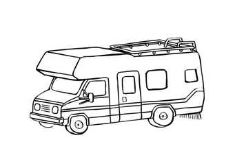 Coloring page camper