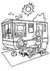 Coloring page camping
