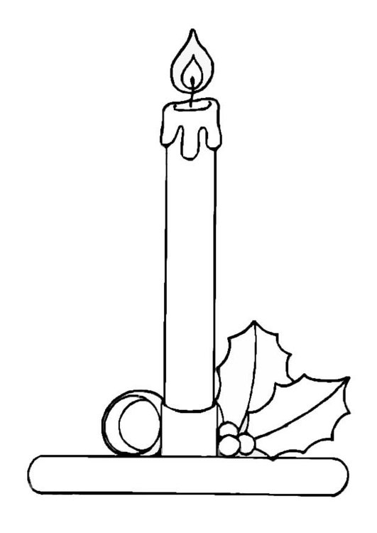 Coloring page candle img 8655 for Christmas candle coloring page