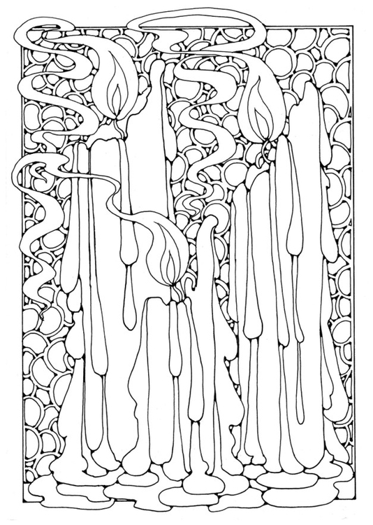 Coloring page Candles