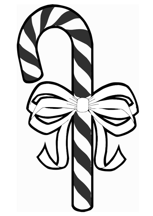 Coloring page candy cane bow