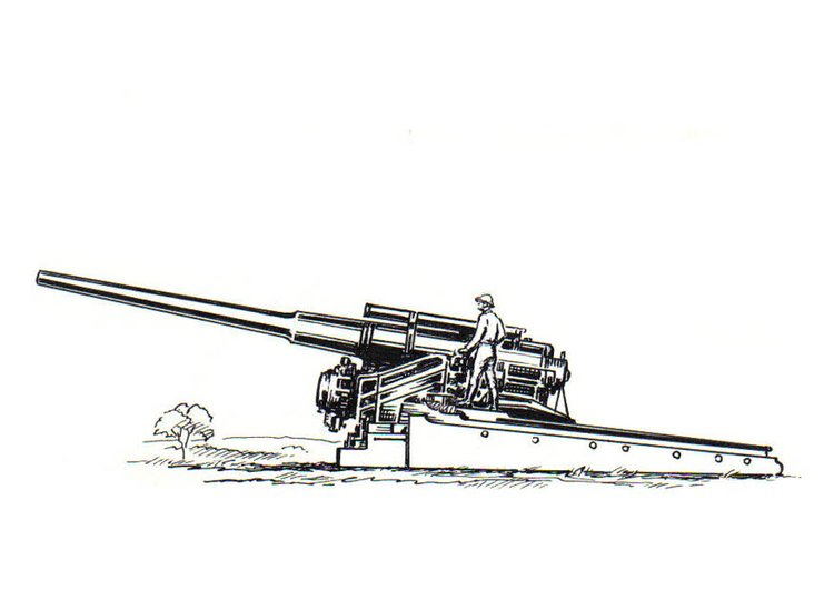 Coloring page cannon