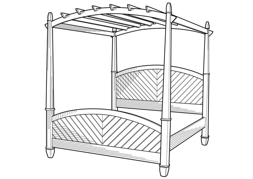 Coloring Page Canopy Bed Free Printable Coloring Pages