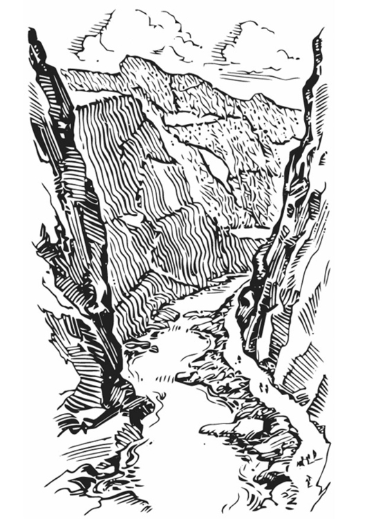 Coloring page canyon