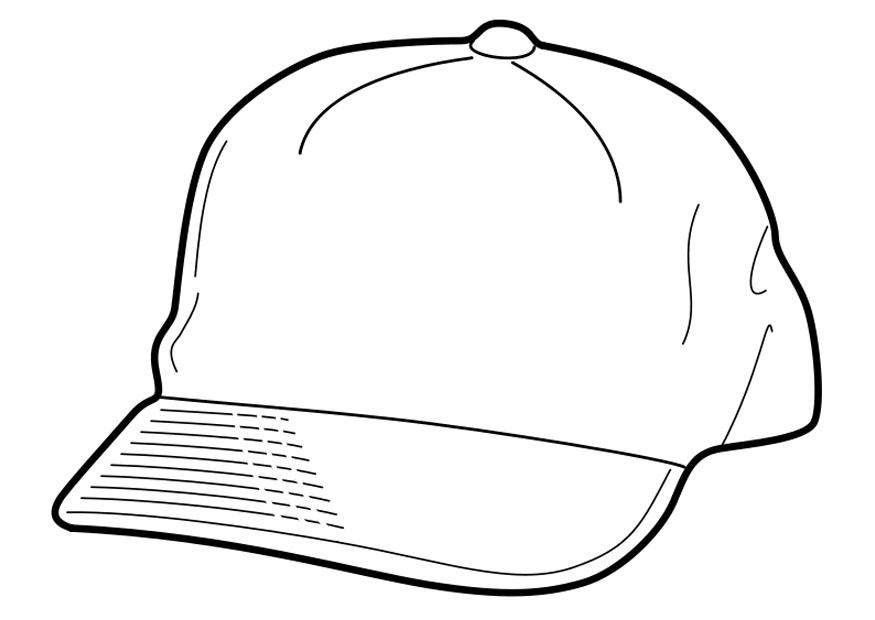 Coloring Pages Baseball Cap Coloring Pages