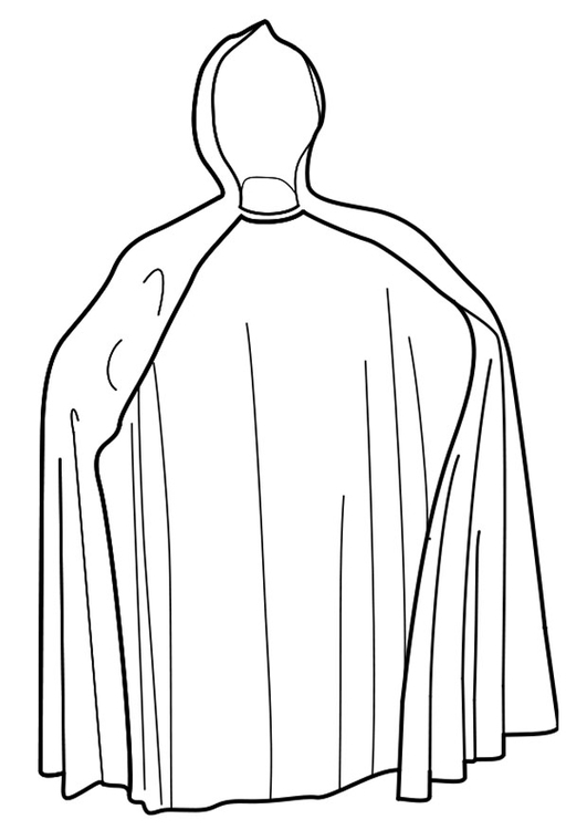 Coloring page cape