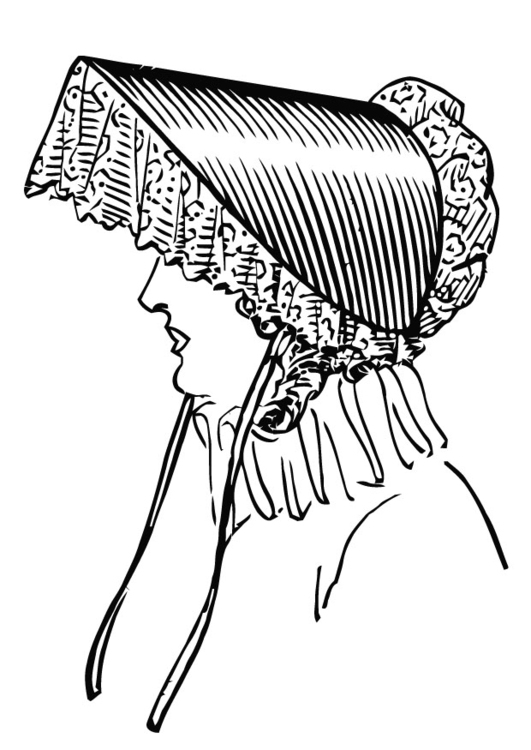 Coloring page capote