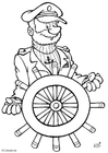 Coloring page captain