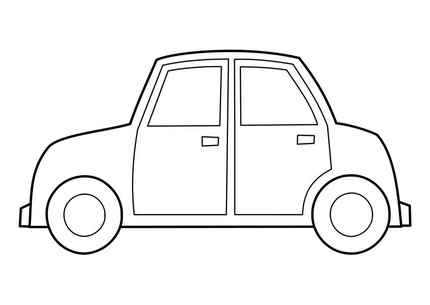 download large image - Coloring Page Car