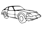 Coloring page car