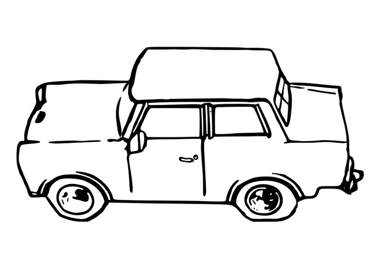 Coloring page car - trabant
