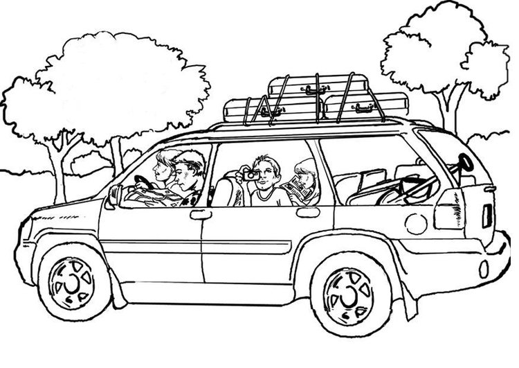Coloring Pages For Adults Travel Coloring page car travel img