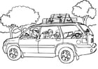 Coloring pages car travel