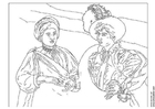 Coloring pages Caravaggio