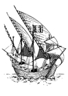 Coloring pages Caravel