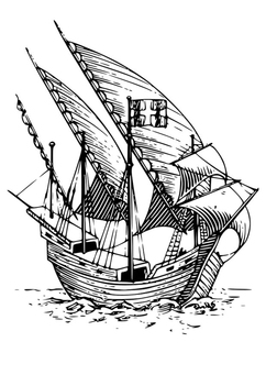 Coloring page Caravel