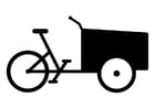 Coloring page cargo bike