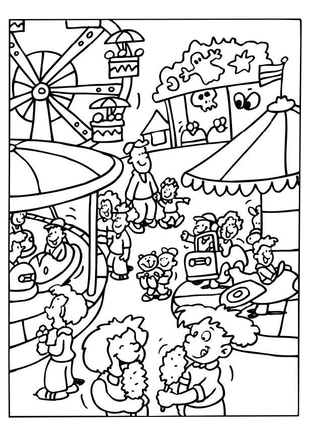 Coloring Page Carnival Img 6514 County Fair Coloring Pages