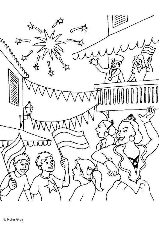 Coloring page carnival