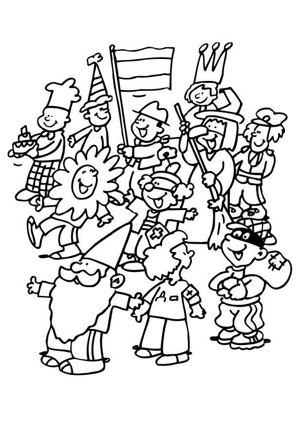 Worksheet. Coloring page carnival  kids  img 6487