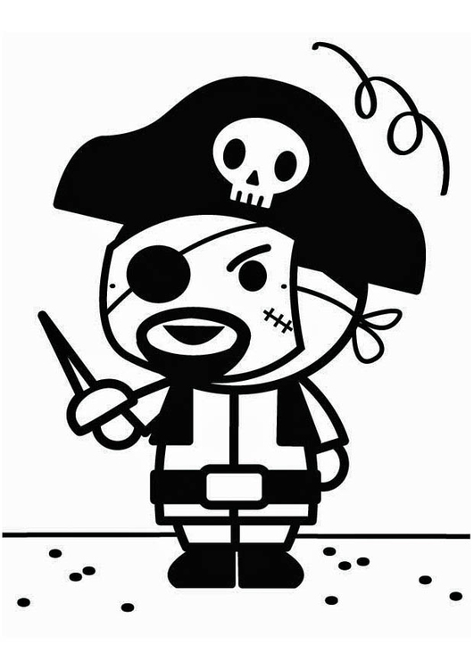 Coloring page carnival pirate