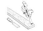 Coloring pages carpenter with chisel