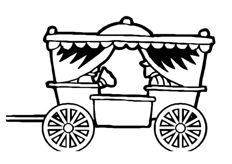 Coloring page carriage img 10968