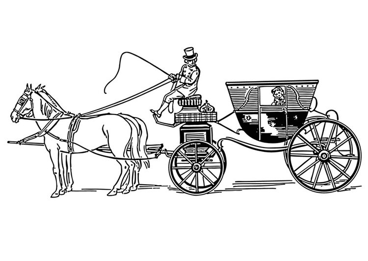 Coloring page carriage